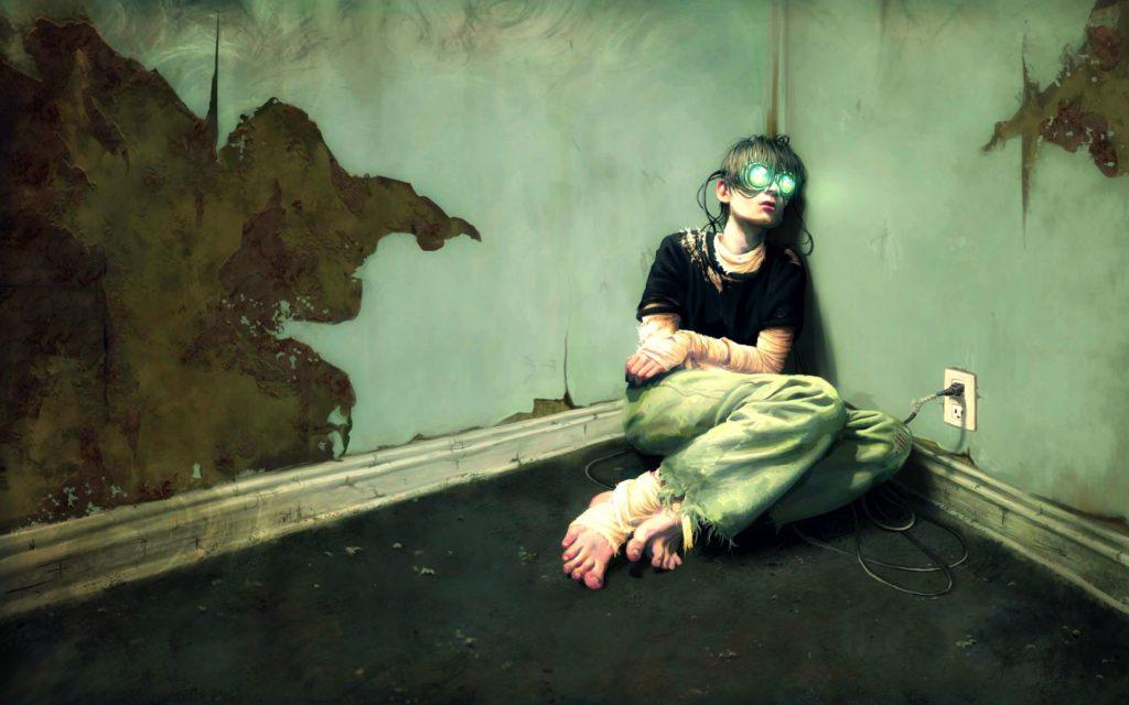ragazzo e realtà virtuale